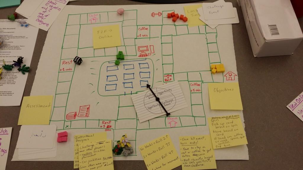 Paper Board Game I built at Emerging Learning Design Conference 2016.